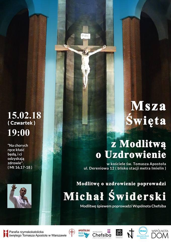 plakat msza sw o uzrowienie Michal swiderski